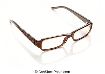 Plastic-rimmed eyeglasses Isolated