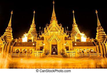Vesak Bucha Days at Prachuabkirikhan,Bangsaphan in Thailand