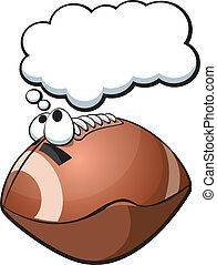 Fantasy Football - A vector illustration of a fantasizing...