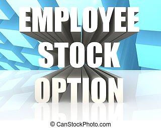 Employee Stock Option - Hi-res original 3d rendered computer...