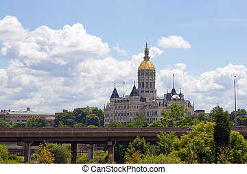 Hartford Capital Building - The golden-domed capitol...