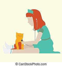 Little girl playing a doctor