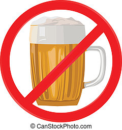 no alcohol - vector illustration no alcohol