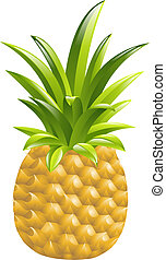 pineapple icon illustration - Illustration of a pineapple...