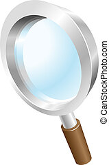 Magnifying glass search icon