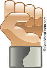 Fist hand power clipart icon