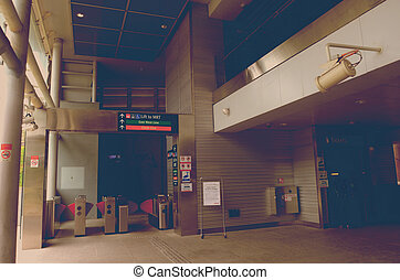Architecture of place MRT, retro style picture