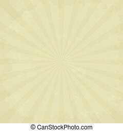 Vector texture of old paper with sunbeams