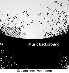 music vector background - Abstract music background with...