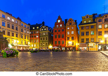 Stortorget in the Old Town of Stockholm, Sweden - Scenic...