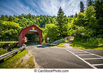 Covered Bridge - Covered bridge located in the region of...