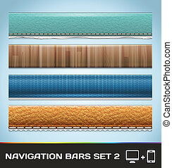 Vector Navigation Bars For Web And Mobile Set2