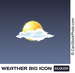 Vector Cloudy Icon