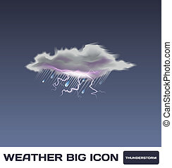 Vector Thunderstorm Icon