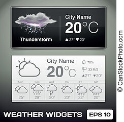 Vector Weather Widgets