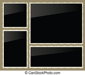 Isolated photo frames, vector illustration, set