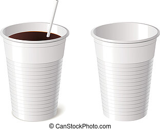 Disposable cup, vector illustration - Disposable cup,...