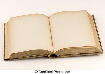 cierre, Arriba, tiro, abierto, antigüedad, libro