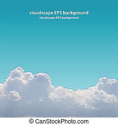 Summer beautiful cloudscape.