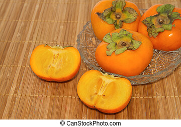 Fresh Persimmon fruit slice