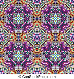 Textile design from the Caribbean - Seamless vector artwork...