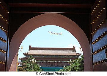 táj,  Beijing, tiltott, Város