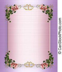Wedding, Party Invitation Floral Border - Image and...