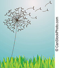 garden design over sky background vector illustration