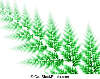 Woven Leaf Abstract - Woven green textures, leaf design -...