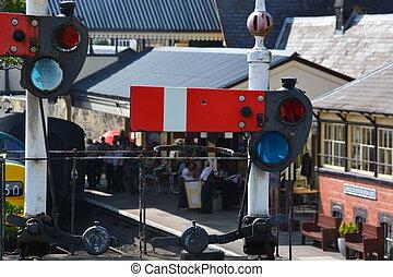 Railway signal - LLangollen railway station signal