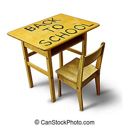 Back To School Desk - Back to school desk with a wooden...