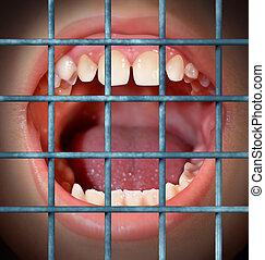 censura, y, libre, discurso