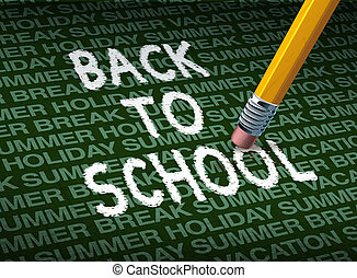 Return To School - Return and going back to school with a...