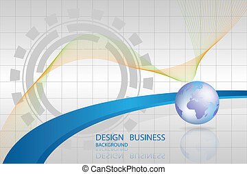 Abstract technology background design map