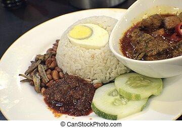 Asian food - Nasi Lemak