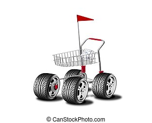 Big wheel cart