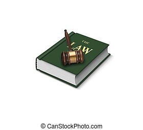 Book of law and gavel
