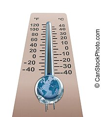 Thermometer with cold temperature - Thermometer with...