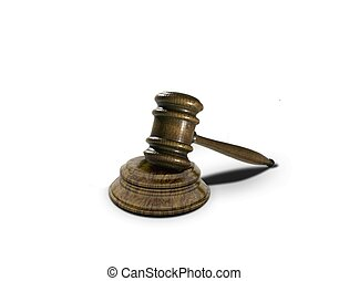 gavel over white