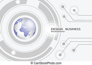 Abstract technology background design map.