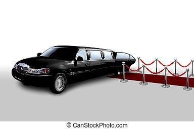 black limo door open