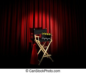 director chair and spotlight