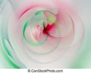 Fractal Abstract Background - Blending pastels - Soft...