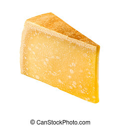 Cheese Wedge isolated on a white background