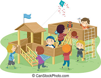 Stickman Boys Playhouse - Stickman Illustration Featuring...