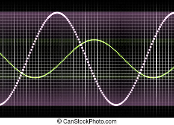 Purple Equaliser Waves - Purple and Black Equaliser Waves...