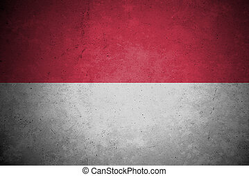 indonesia  flag pattern on the concrete wall.