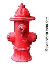 old Fire hydrant on white background