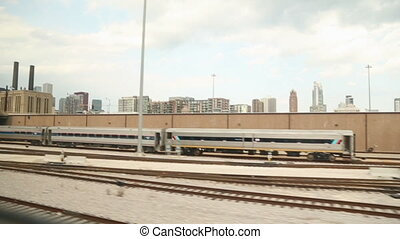 Chicago Over the Tracks - A wide view of Chicago