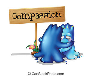 Two compassionate monsters - Illustration of the two...